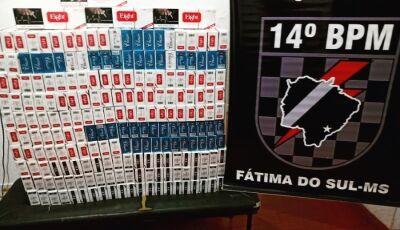 Força Tática apreende mais de 2 mil maços de cigarros no distrito de Culturama