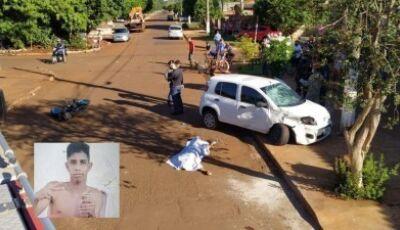 Jovem morre no Parque das Nações II após bater moto contra carro