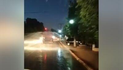 Vicentina começa desinfecção das ruas da cidade no combate com coronavírus