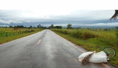 Condutor de Bicicleta morre ao ser atropelado por Caminhão Boiadeiro entre Ipezal e Deodápolis