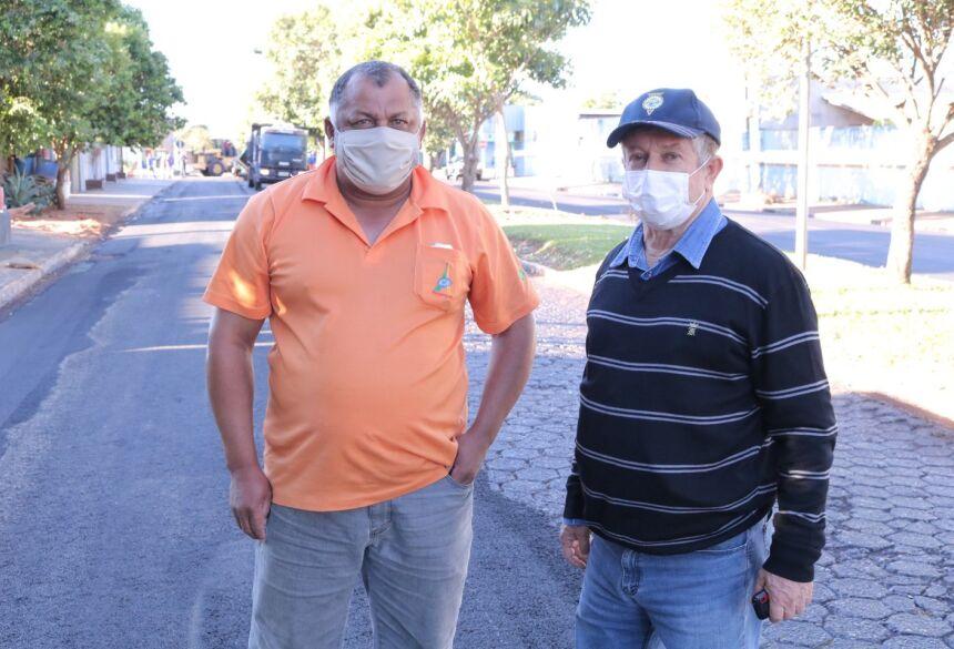 O Prefeito Eraldo Jorge Leite esteve acompanhando de perto a obra, respeitando os cuidados preconizados na prevenção do coronavírus