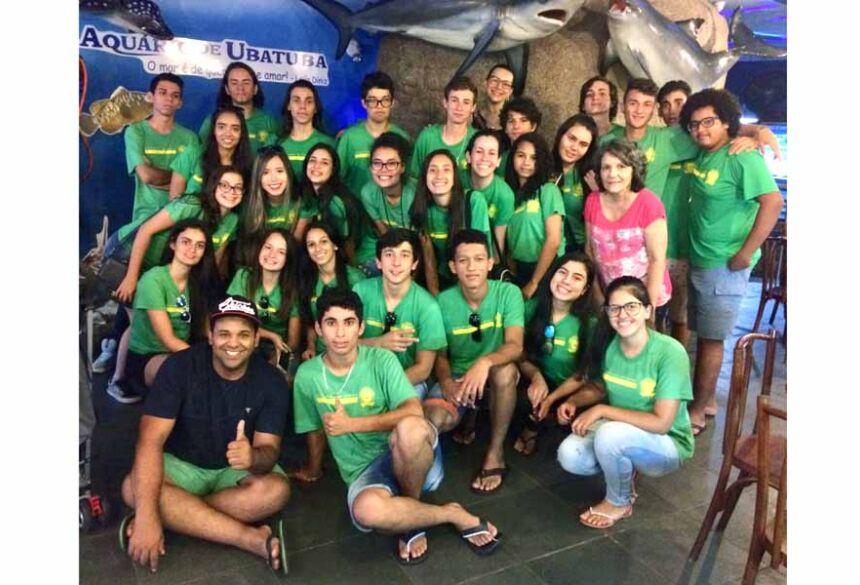 Alunos da Escola Vicente Pallotti de Fátima do Sul