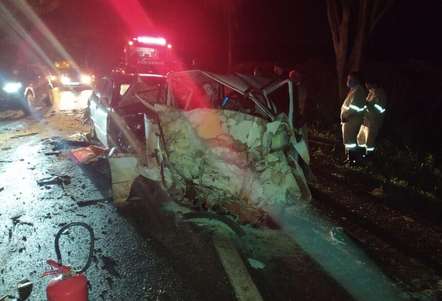 Identificados as duas vítimas fatais do acidente em Vicentina, dois homens são de Fátima do Sul