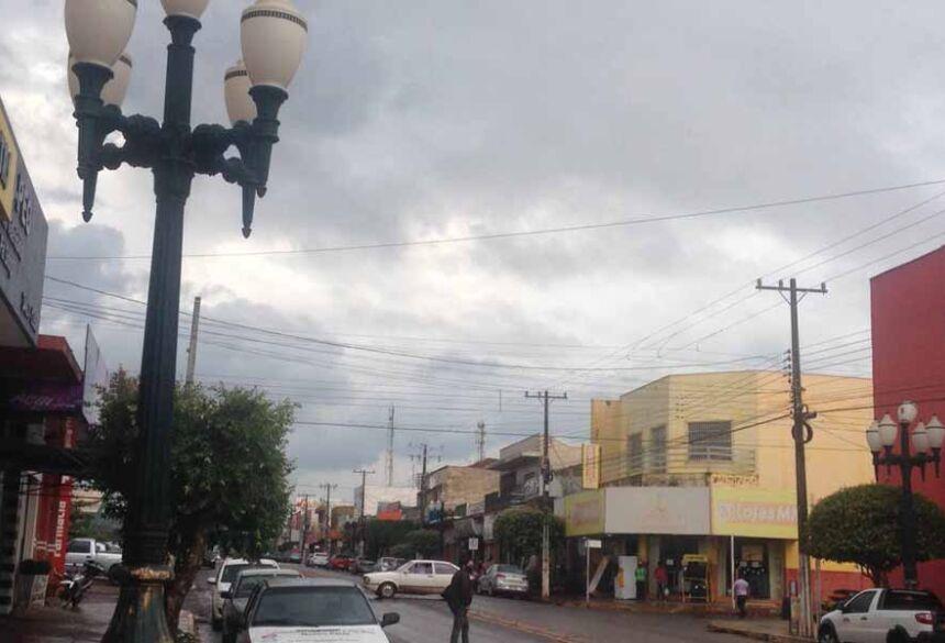 Tempo fechado em Fátima do Sul, com possibilidade de chuva
