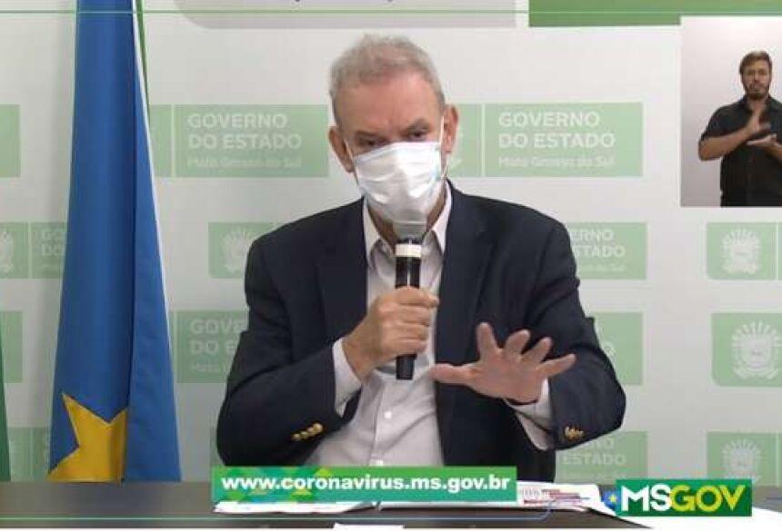 Geraldo Resende, fez novo apelo para que a população ajude com medidas de distanciamento social, uso de máscaras e cuidados redobrados de higiene.