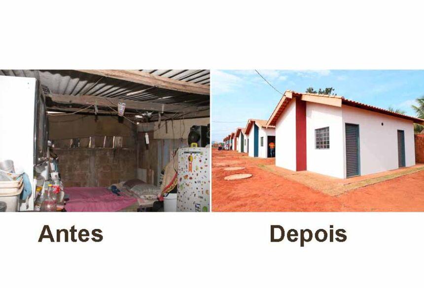 Há um ano, Eunice e mais oito famílias foram beneficiadas pelo Projeto de Substituição de Moradia Precária, em Nova Andradina.