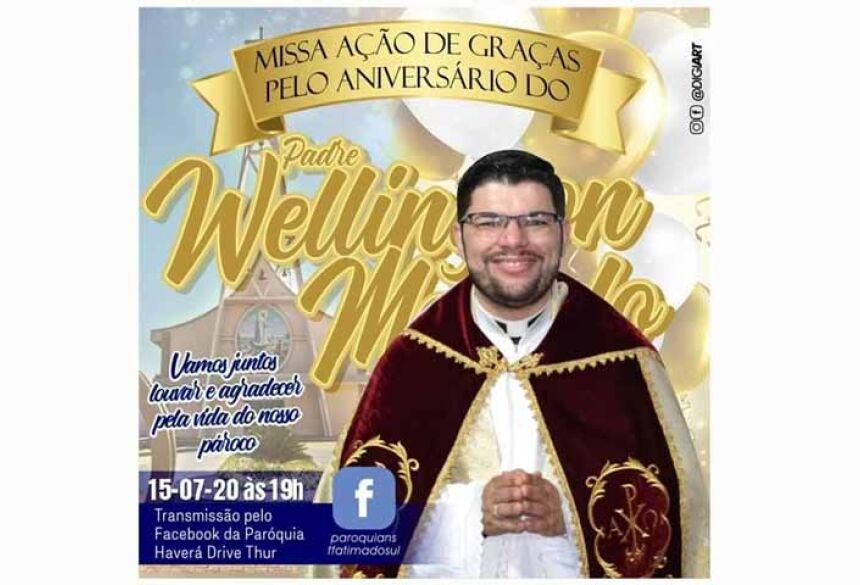 Pe. Wellington Macedo comemora aniversário nesta 4ª feira, 15