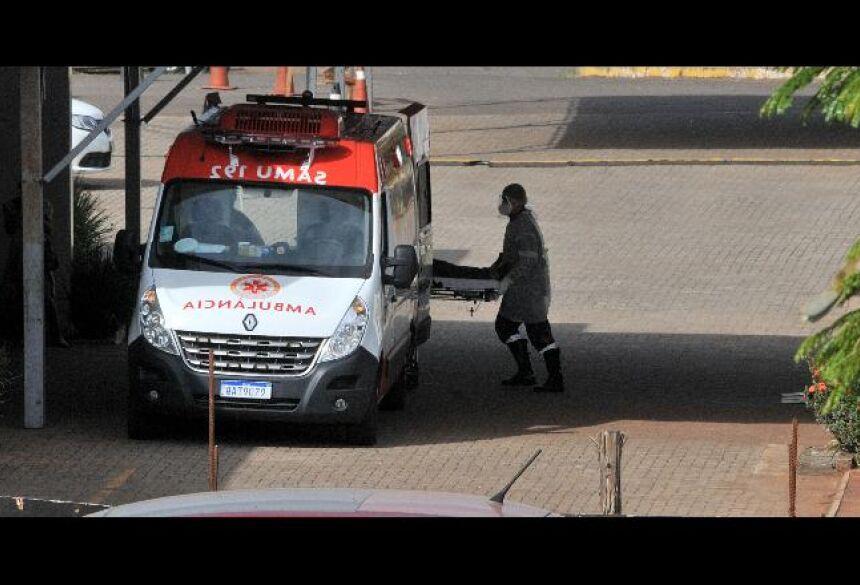 Paciente em estado grave chega ao Hospital Regional