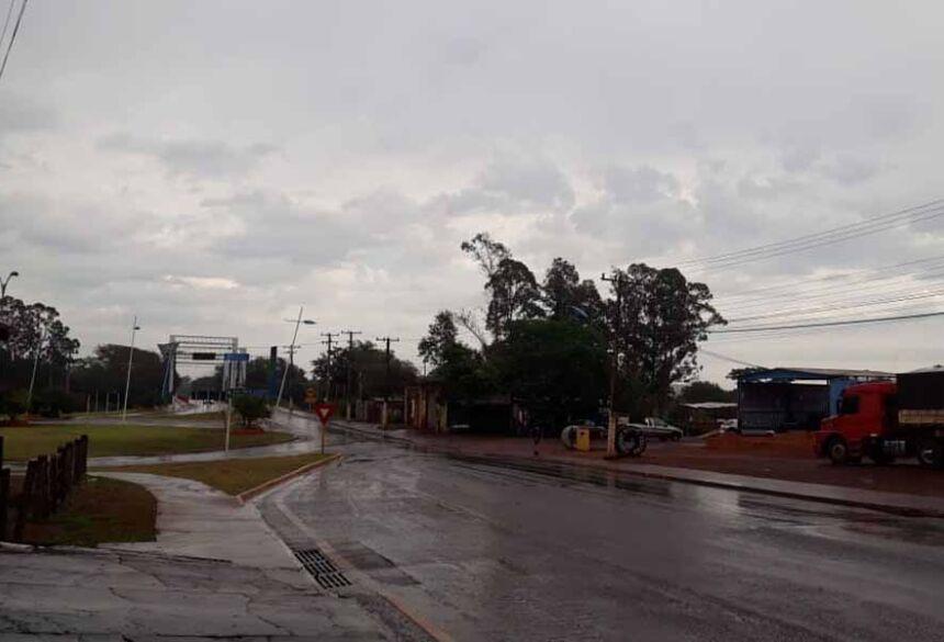 Tempo chuvoso em Fátima do Sul com possibilidade de 5 mm