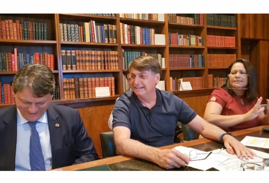 o Palácio do Planalto divulgou que a primeira dama Michele Bolsonaro está com o novo coronavírus.