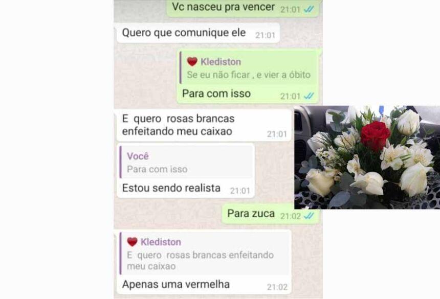 Elisângela levou as rosas que o filho pediu no outro dia —