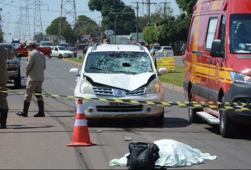 Homem foi atropelado na Avenida Guaicurus, em Campo Grande -
