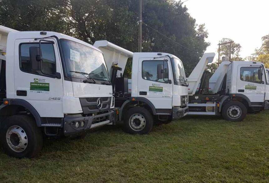 Caminhões vão atender o setor produtivo da Agricultura Familiar