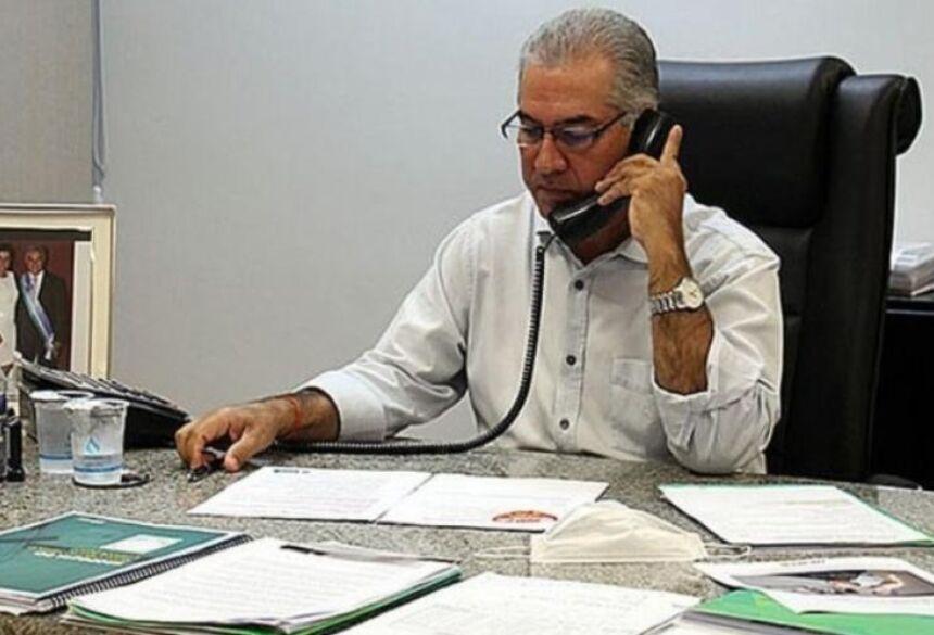 entrevista concedida pelo governador Reinaldo Azambuja, à rádio Boa Nova FM.