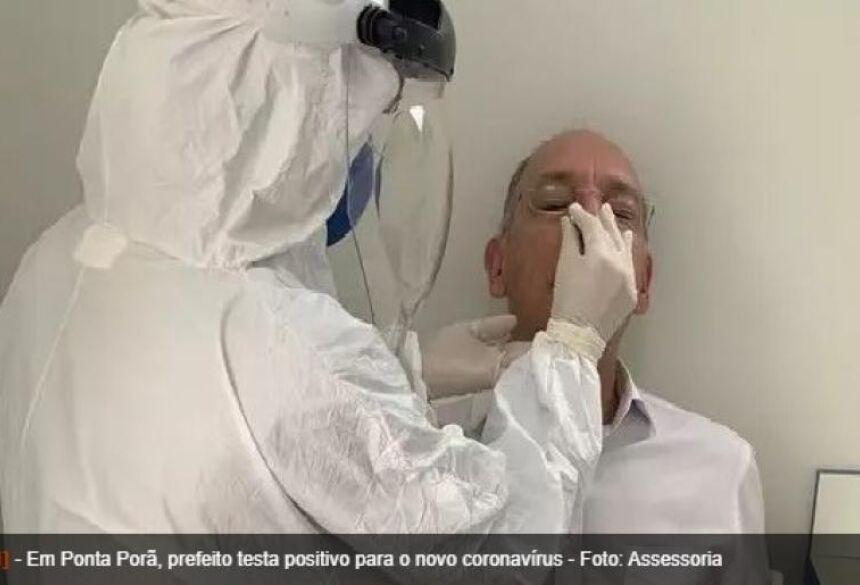 o prefeito Hélio Peluffo Filho postou em suas redes sociais que testou positivo
