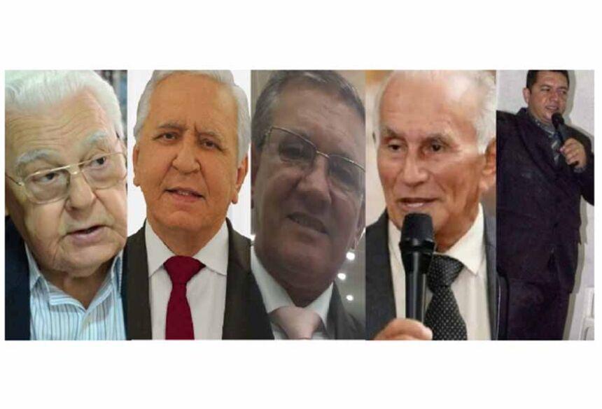 Pastor Sebastião, Rubens, José Geraldo, José Damasceno, Camargo