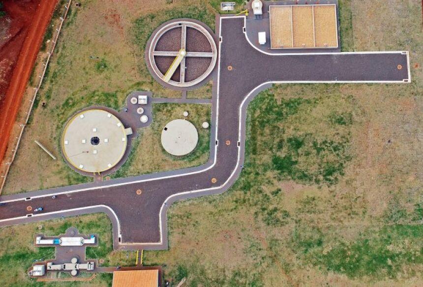 Estação de tratamento de esgoto entregue em Aral Moreira.