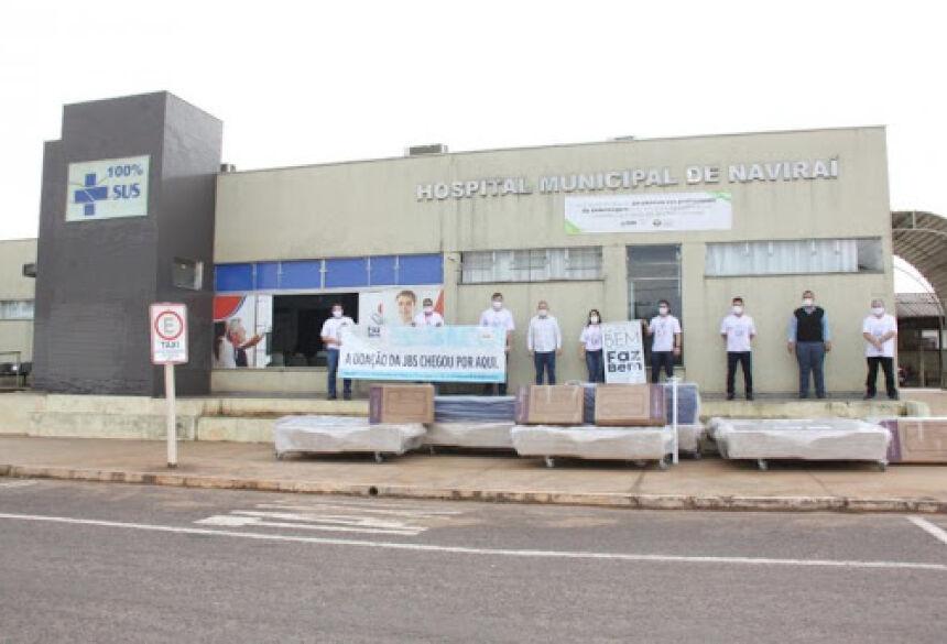 Hospital de Navirai, ocasião que recebeu doação da JBS