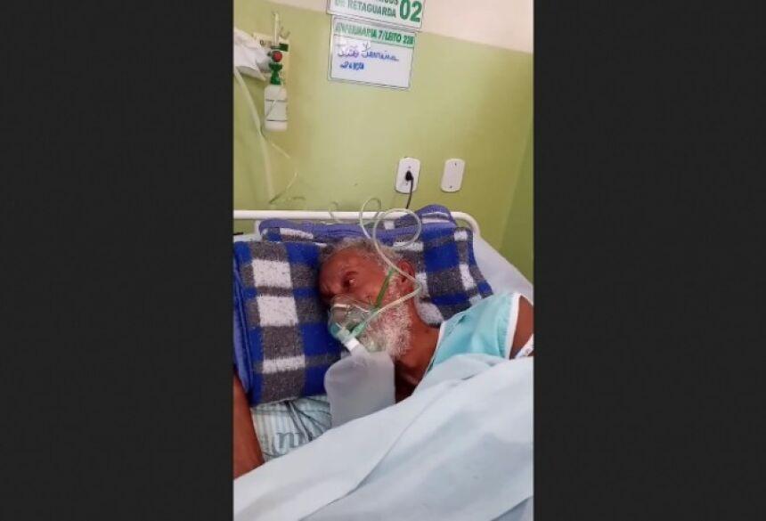 Filho registra pai debilitado no Hospital Municipal de Ivinhema