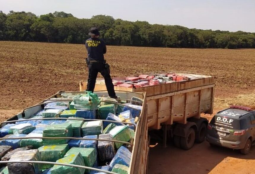 Grande parte das apreensões de drogas, mais de 182 toneladas, foram realizadas pelas equipes do Departamento de Operações de Fronteira (DOF)