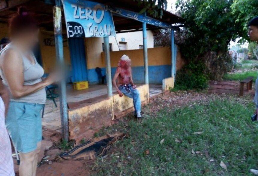 Idoso agredido nesta quinta-feira (22), na Vila Planalto. Foto: Divulgação