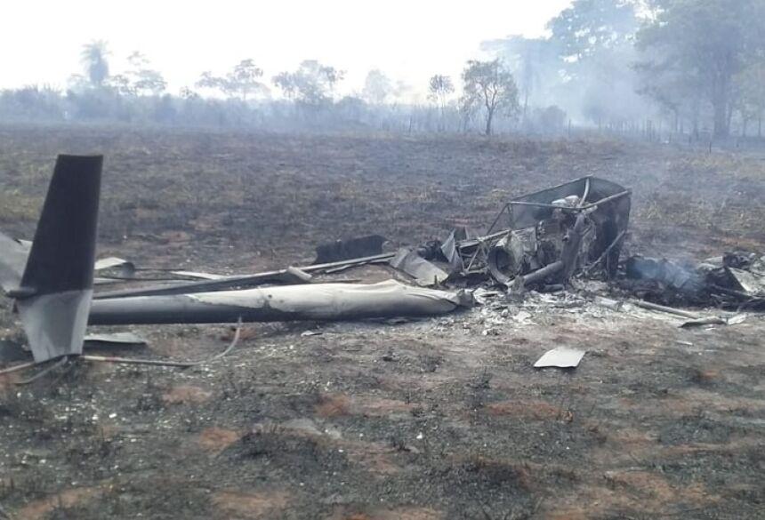 Helicóptero caiu em um assentamento, em Rosana