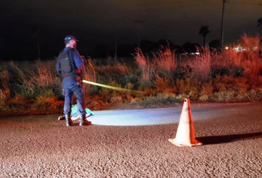 A vítima de 67 anos morreu após ser atropelado na MS-141 - Foto: Ivinoticias