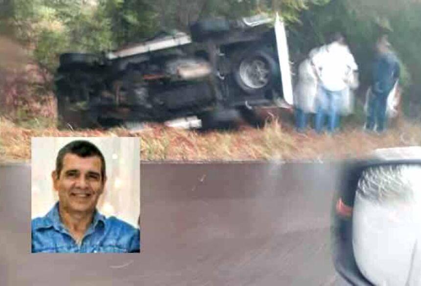 acidente na MS-080, a 10 km antes da cidade de Rochedo.