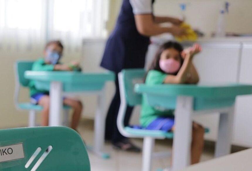Crianças do ensino infantil retornaram às escolas no dia 21 de setembro. (Foto: Henrique Arakaki, Midiamax)