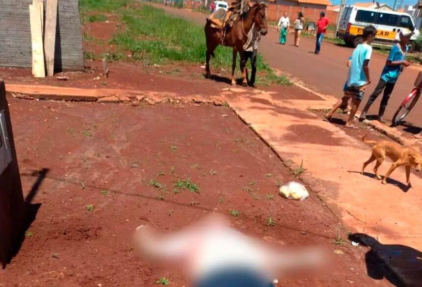 Homem foi executado na rente de crianças Foto: Divulgação