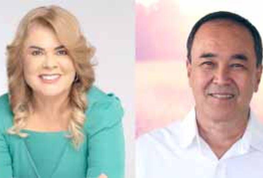 Ilda Machado e Dirceu Deguti - candidatos a prefeito de Fátima do Sul