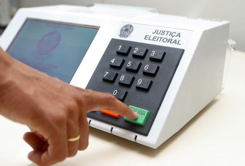 Urna eletrônica usada nas eleições