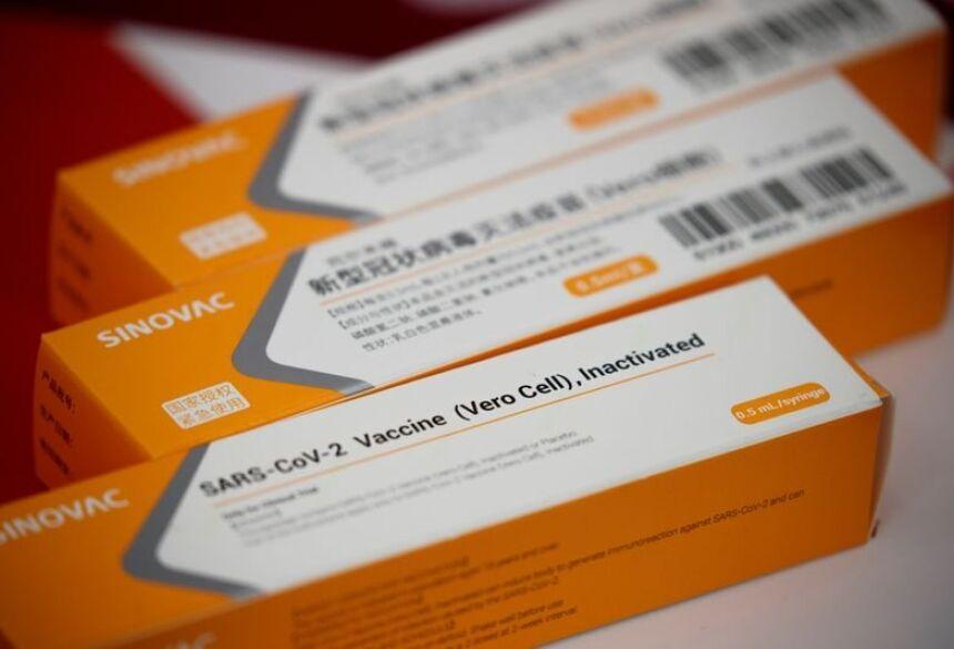Caixas da CoronaVac em Pequim