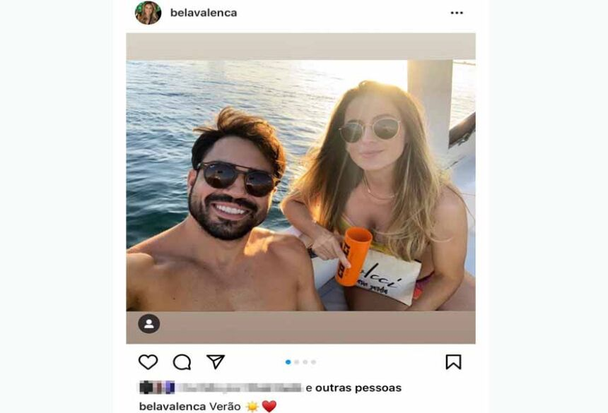 Mulher que matou companheiro a tiro em Salvador publicou foto do casal horas antes de crime  Foto: Reprodução/Redes Sociais