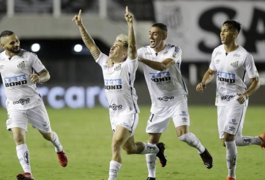 Soteldo marcou um dos gols do Santos