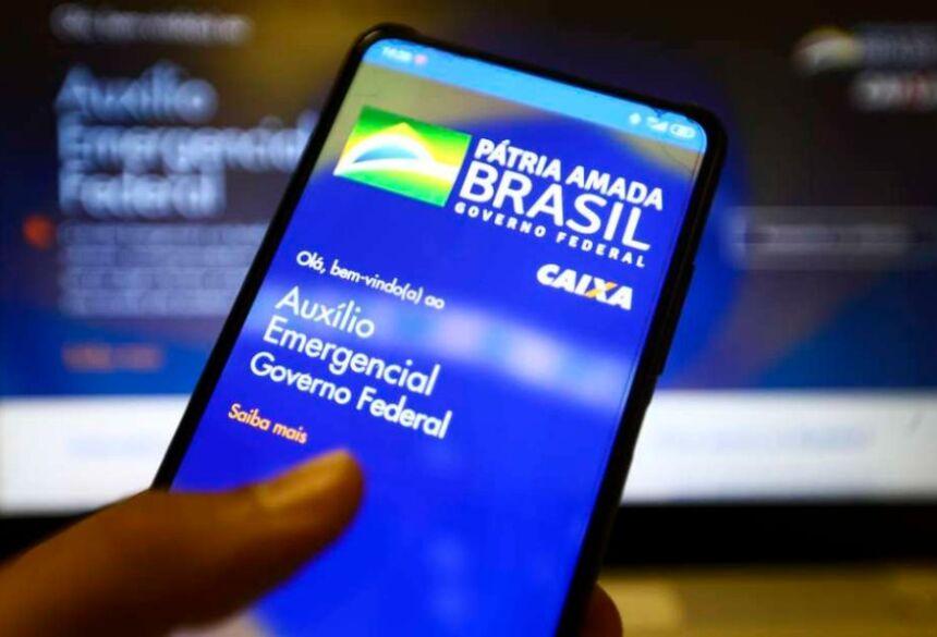 Aplicativo do auxílio emergencial do governo federal. Foto: Marcelo Camargo/Agência Brasil / Estadão Conteúdo