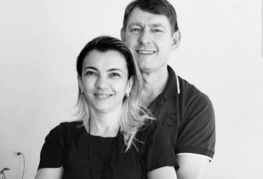 Odirlei com a esposa Cirlei: O casal morava em Ponta Porã