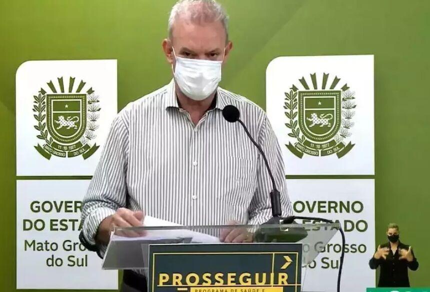 Geraldo Resende em live do Governo do Estado, recentemente (Foto: Arquivo/Reprodução)