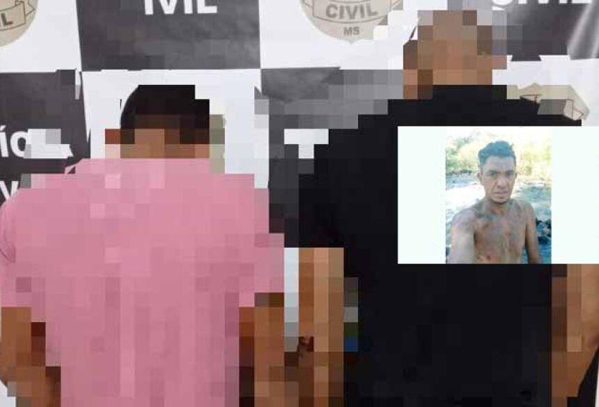 Dupla apreendida pela Polícia Civil de Caarapó: Foto: SIG