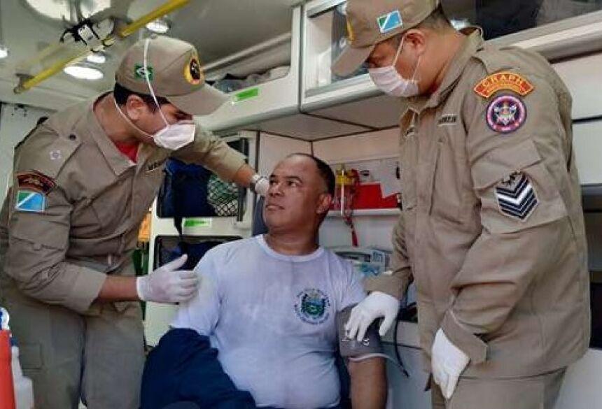 Sargento teve ato de bravura ao salvar crianças durante incêndio - Crédito: Willian Leite