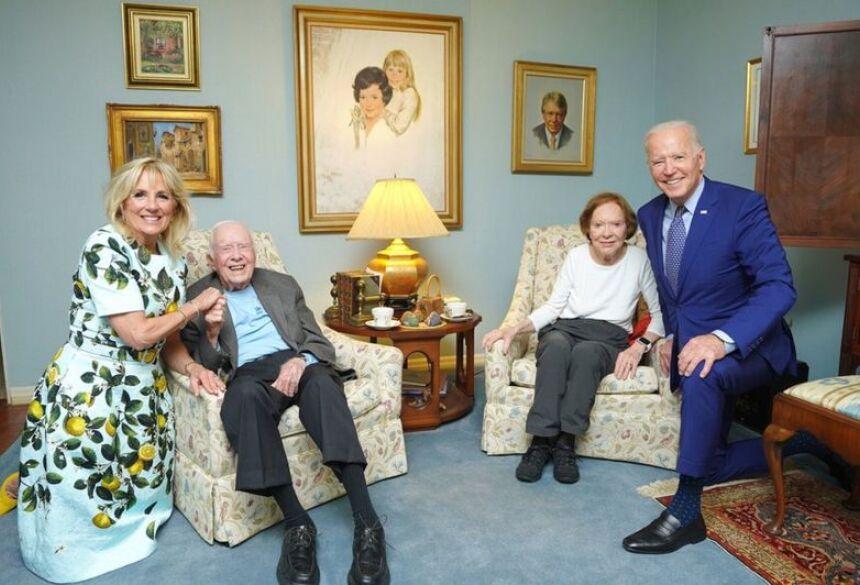 Os Bidens visitaram os Carters em sua casa na Geórgia