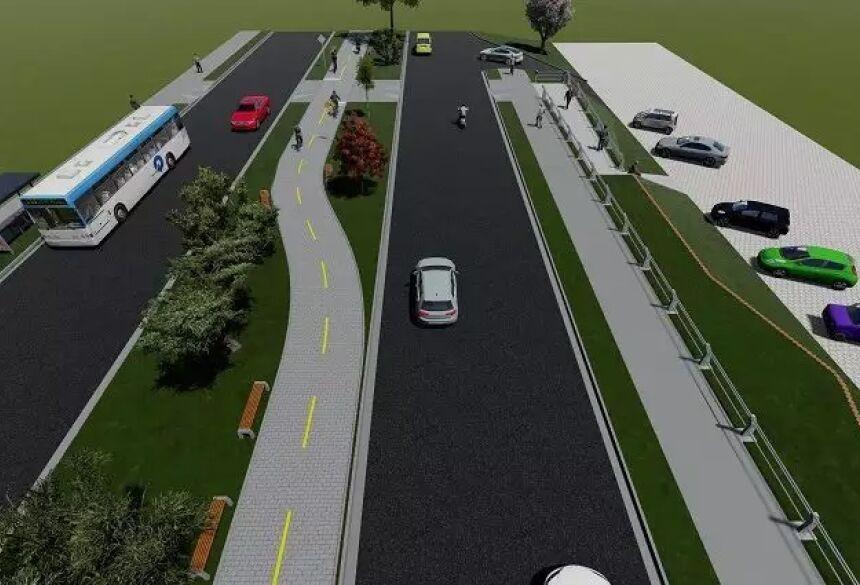 Conforme a maquete, projeto irá abranger melhorias desde o estacionamento até área de descanso para população (Foto Ilustração)