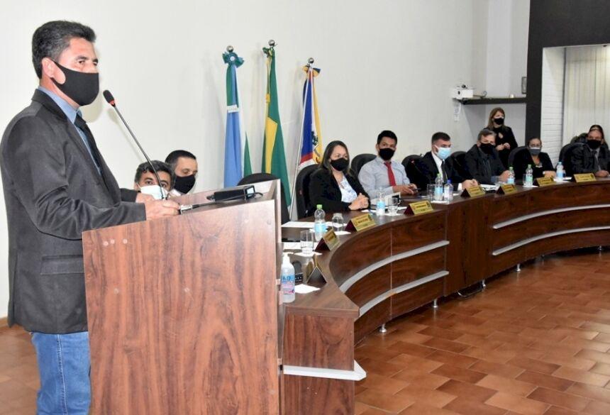 Amadeu Ferreira de Moura prefeito interino - Fotos Adauto Dias