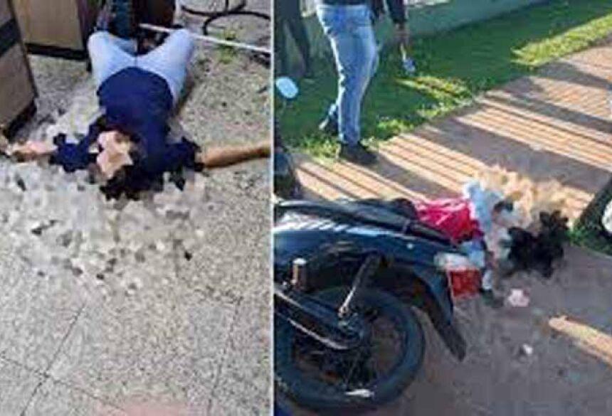 De acordo com informações, mãe e filha foram mortas a tiros em seus locais de trabalho.