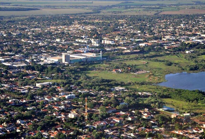 Vista da cidade de Dourados (MS)  Foto: Divulgação/Prefeitura de Dourados