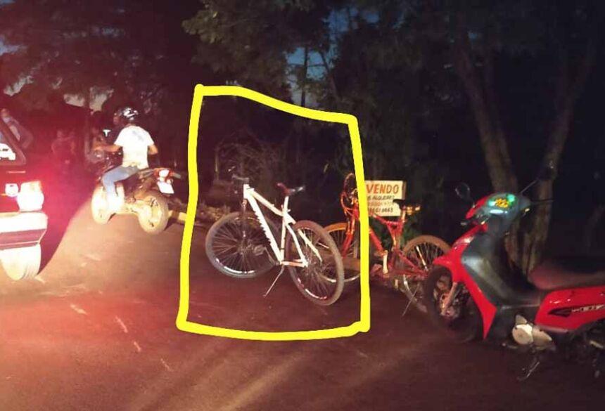 Bicicleta envolvida no acidente