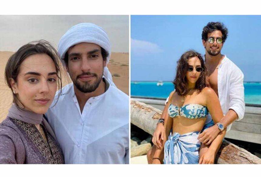 Lara Silva com o namorado, o apresentador Julinho CasaresFoto: / Reprodução/Instagram