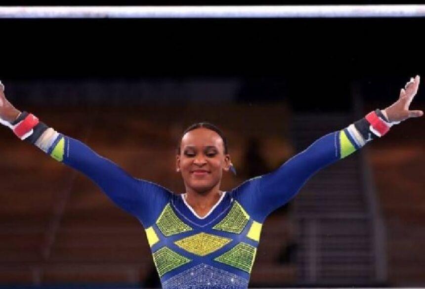 Rebeca Andrade é a 1ª medalhista olímpica da ginástica feminina do Brasil - Foto: Jamie Squire / Getty Images