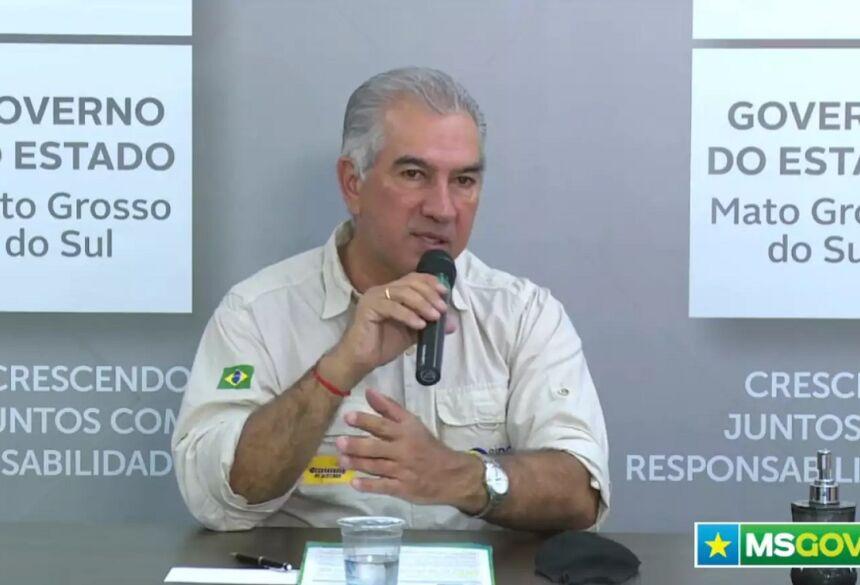 Governador, Reinaldo Azambuja (PSDB), confirma segunda rodada de cadastramento para trabalhadores do turismo. (Foto: Reprodução)