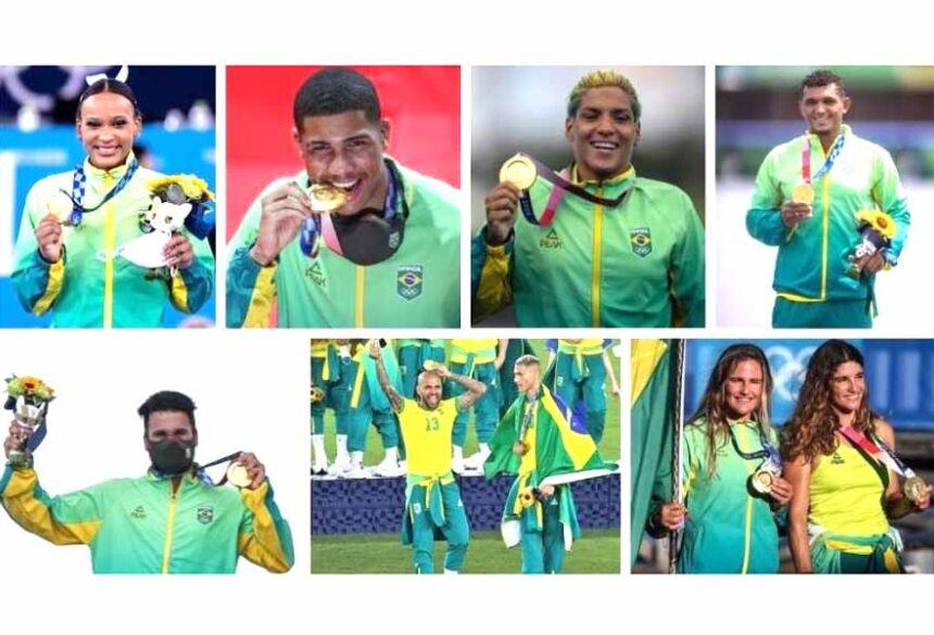 Medalhistas do Brasil em 2021 no evento de Tóquio 2020